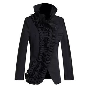 The COLYNA Black Ruffle Jacket Top